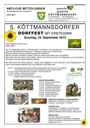 Amtliche Mitteilung 6/2012 - Gemeinde Köttmannsdorf