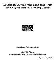 Baûn tin 1706 - Louisiana Department of Education