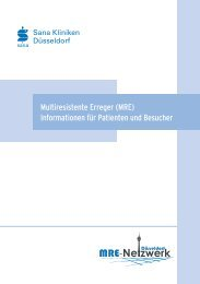 Informationsbroschüre MRE - Sana Krankenhaus Gerresheim