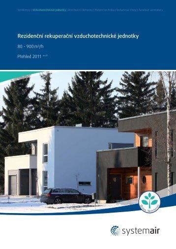 Rezidenční vzduchotechnické jednotky - Systemair