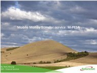 M-PESA: Changing Lives - EuroAfrica-ICT