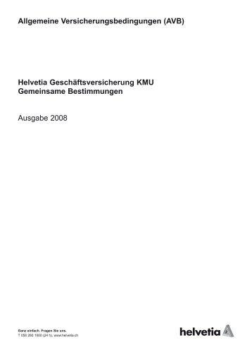 Allgemeine Versicherungsbedingungen (AVB) Helvetia ...