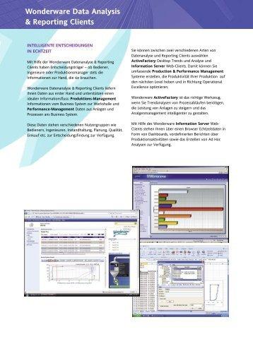Wonderware Data Analysis & Reporting Clients