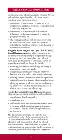 sexual harassment sexual harassment - Office for Equity and Diversity - Page 3