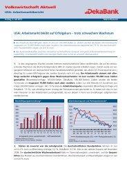 USA: Arbeitsmarkt bleibt auf Erfolgskurs – trotz ... - DekaBank