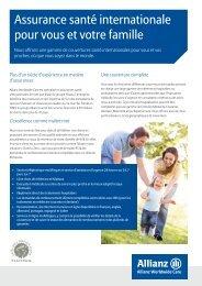 Tableau des garanties - Allianz Worldwide Care