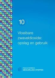 Vloeibare zwaveldioxide: opslag en gebruik - Publicatiereeks ...