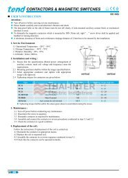 CONTACTORS & MAGNETIC SWITCHES