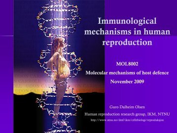 Immunological mechanisms in human reproduction - itslearning