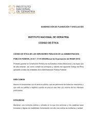 Código de Ética - Instituto Nacional de Geriatría