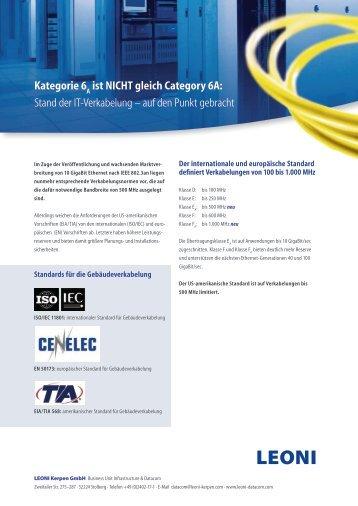 Kategorie 6 - LEONI Infrastructure & Datacom