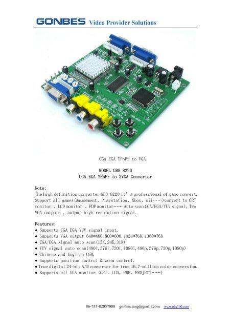 GBS-8220 - Info-Coach