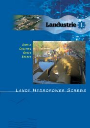 landy hydropower screws - Landustrie