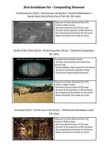 6 free Magazines from VFX PAN COM