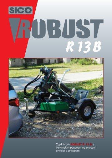 Cepilnik drv ROBUST R 13 B z bencinskim pogonom na enoosni ...