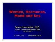 Women, Hormones, Mood and Sex - Faina Novosolov, MD