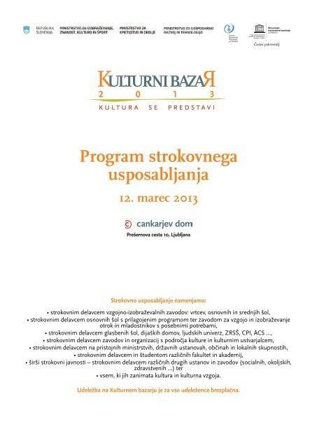 Program strokovnega usposabljanja - Ministrstvo za izobraževanje ...