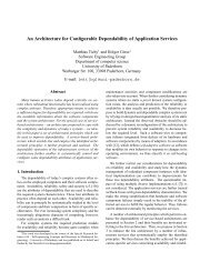 An Architecture for Configurable Dependability of ... - University of Kent