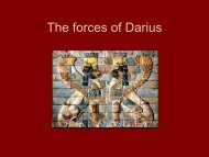 The forces of Darius