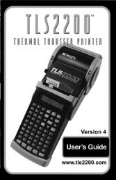 TLS2200 Thermal Transfer Printer User's Guide - Notes/Domino ...