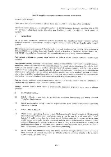 16.10.2012 Dohoda o vyplňovacom práve k ... - Horná Súča