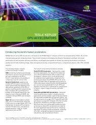 Tesla Kepler Family Product Overview - Nvidia