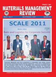 Cover September 2011 - Indian Institute of Material Management