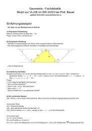 Skript zur VL Geometrie FD, WS - PhilImhof.de