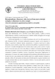 Bioregionalismo e Benessere: alla ricerca di una ... - Clamer Informa