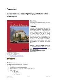 Rezension von Rüdiger Bernges - Südtiroler Burgeninstitut