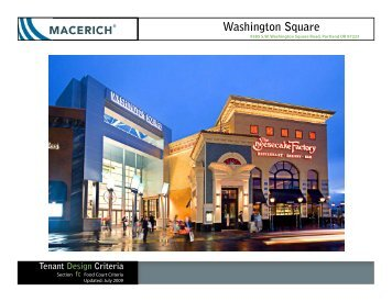 Washington Square Food Court Criteria Manual - Macerich
