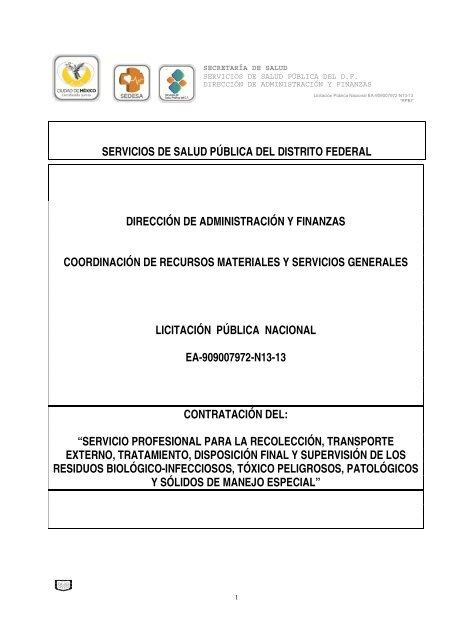 Servicios De Salud Pública Del Distrito Federal Dirección De