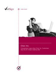 Conversions Leap when Oisix Inc. Customers See the EV ... - VeriSign