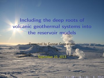 Including the deep roots of volcanic geothermal systems into ... - Georg