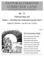 Nr 11 - Palmsonntag und Ostern - Pastoralverbund - Lübbecker Land