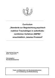 Standards zur Begutachtung psychisch reaktiver ... - PTK Bayern