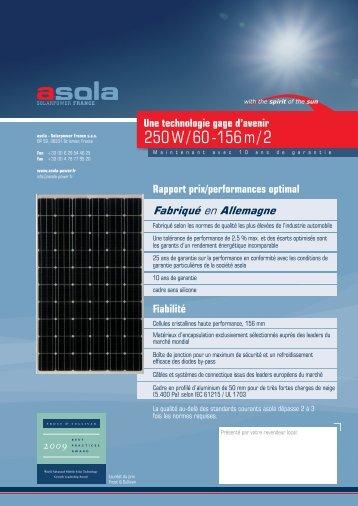 250 W / 60 -156 m / 2 - asola