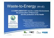 Waste-to-Energy (W-t-E)
