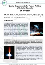 Quality Requirements for Fusion Welding of Metallic Materials ... - EWF