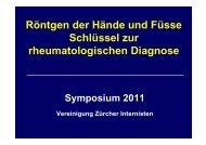 Röntgen der Hände und Füsse - Vereinigung Zuercher Internisten