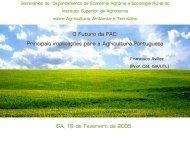 O Futuro da PAC - Instituto Superior de Agronomia