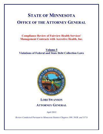 Vol. 5 - Minnesota Attorney General