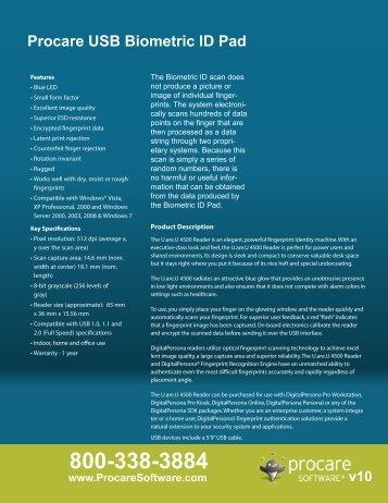 Procare USB Biometric ID Pad - Procare Software
