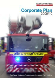 Corporate Plan 2009/10 - Royal Berkshire Fire and Rescue Service