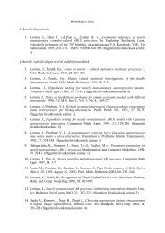 Publikációs lista Lektorált könyvrészlet 1. Kormos J., Meer T. vd,Pap ...
