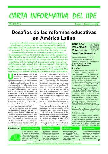 Desafíos de las reformas educativas en América Latina - IIEP - Unesco