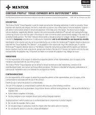 contour profile® tissue expander with bufferzone™ area - Mentor