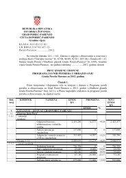 Izmjene i dopune programa javnih potreba u ... - Grad Poreč