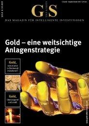 Gold – eine weitsichtige Anlagenstrategie - Gold-Silber-Kontor AG