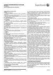 Apdrošināšanas noteikumi (pdf) - Swedbank